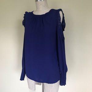 Loft cold shoulder blouse | Size XS